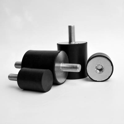Rubber anti vibration rubber bobbins cylindrical mounts for Anti vibration motor mounts