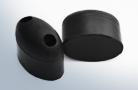 Oval rubber buffers
