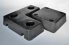 Trapezium form rubber buffers