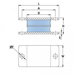 Polymax Anti Vibration Sandwich Mount