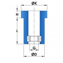 TH Flexible Locator Anti-Vibration Mount