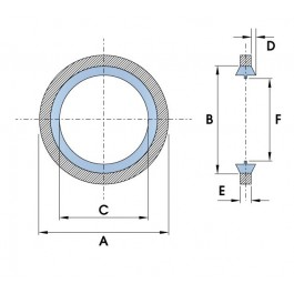 Bonded Seals - BSP Standard Self Centering | Diagram