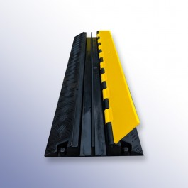 Cable Protector 1000L x 250W x 45H (2 Channels, 30mm x 30mm, 12 Tonnes) at Polymax