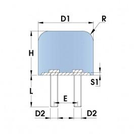 DMC Shock Mount - Double Male Thread
