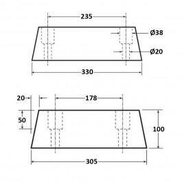 Square Dock Bumper 330L x 305W x 100H