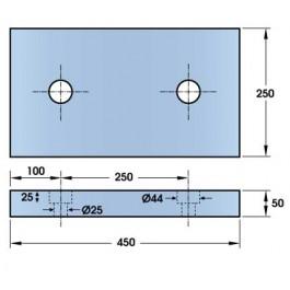 Polymax Type C Buffer 450L x 250W x 50H