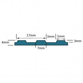 VIDA PRO Broad Ribbed Matting Roll Technical Drawing