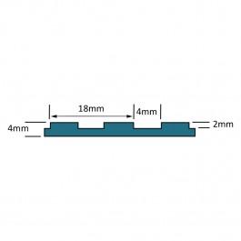 VIDA STD Broad Ribbed Matting Roll Technical Drawing