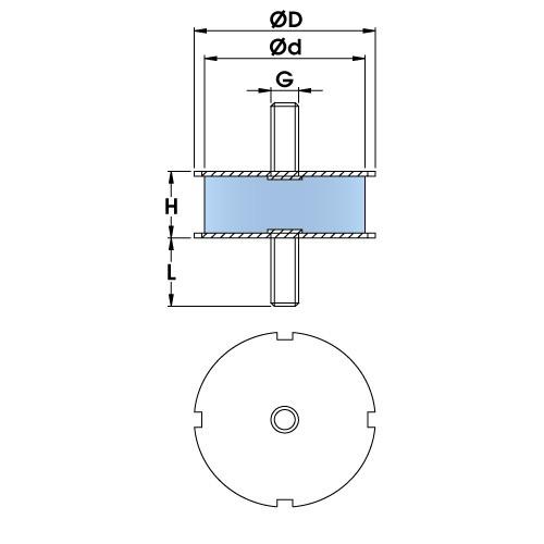 Polymax Compactor KBRA Male / Male Mounts
