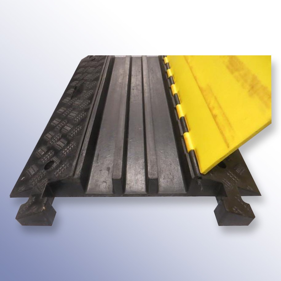 Cable Protector 900L x 500W x 75H (3 Channels, 65mm x 65mm, 20 Tonnes)