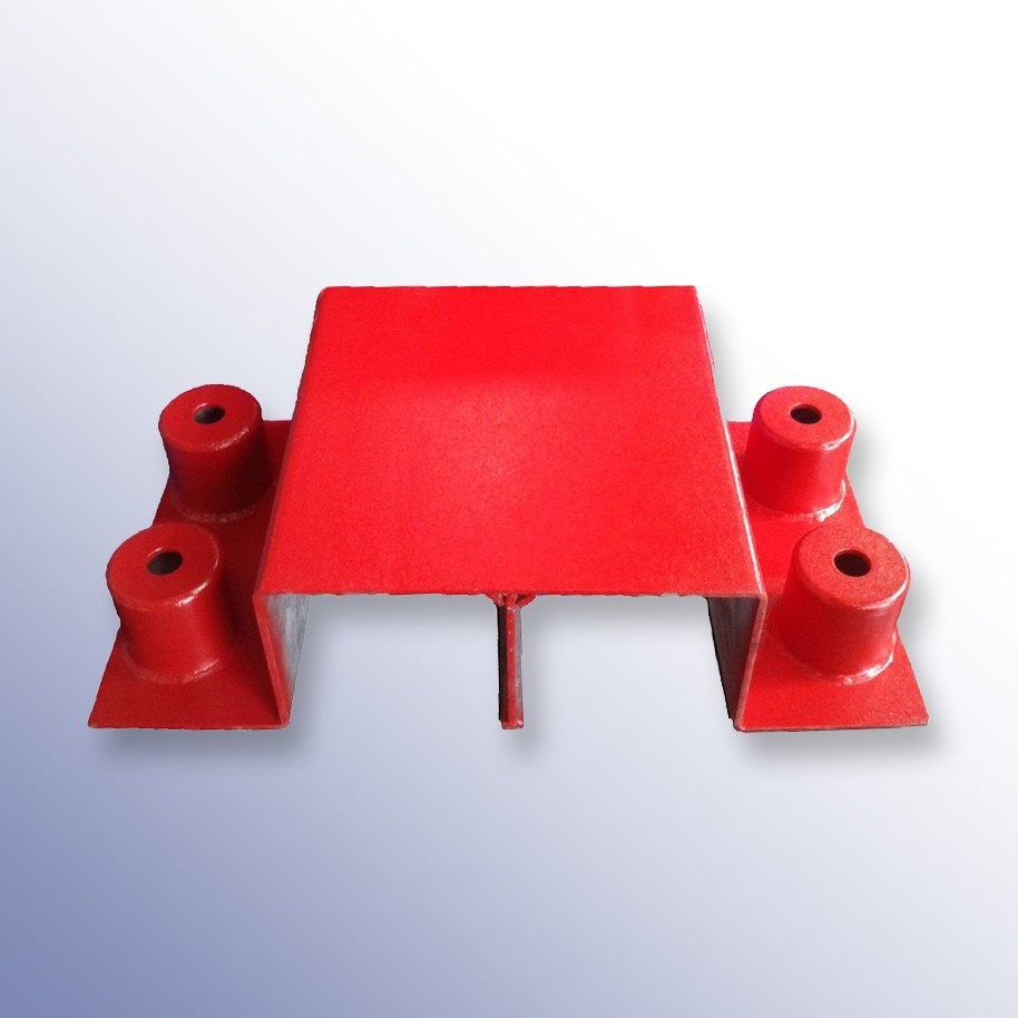 Heavy Duty Cable Cover Bridge Red 370L x 400W x 190H