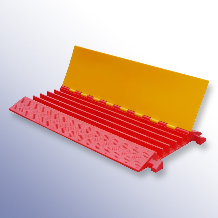 Polyurethane Extra Strength Cable Protector 900L x 500W x 55H (5 Channels, 42mm x 42mm, 40 Tonnes)