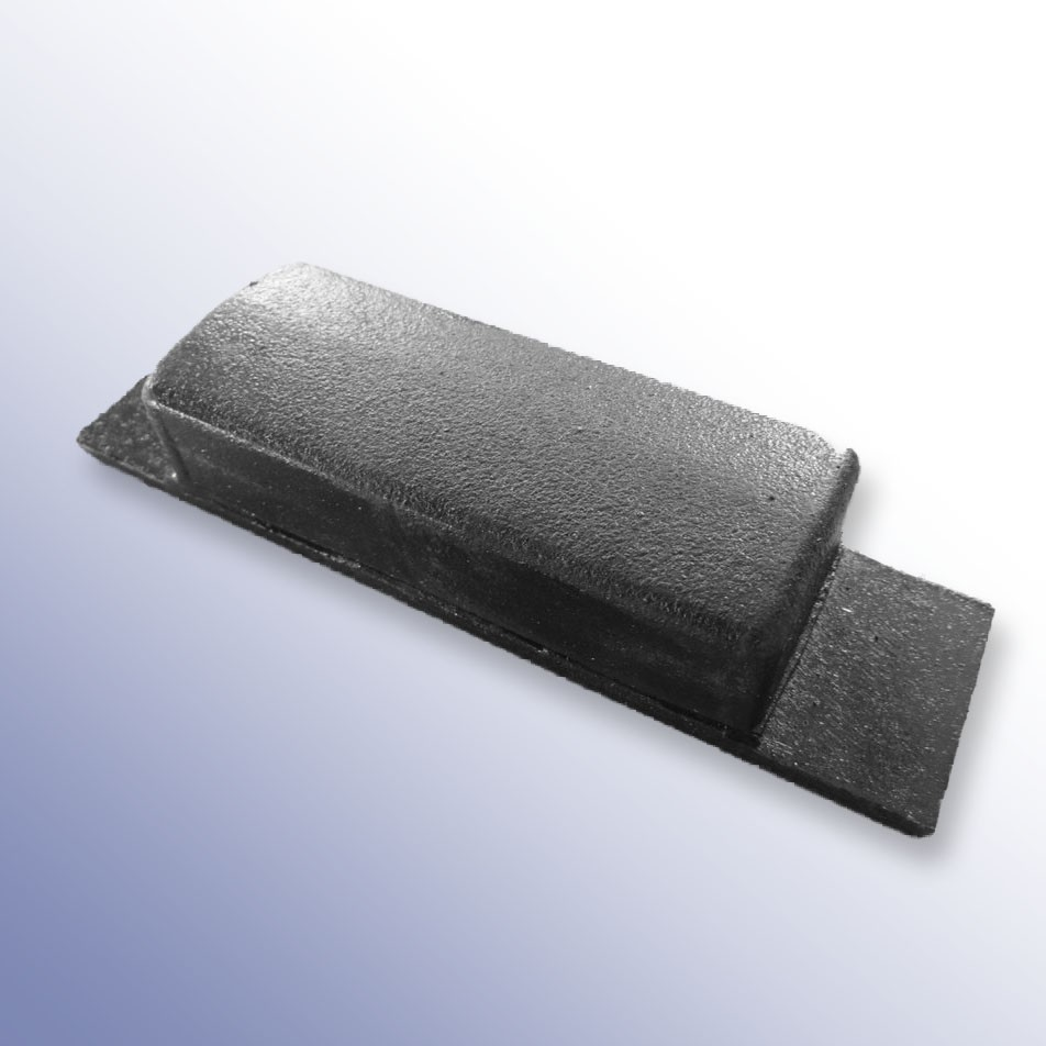 Steel Tipper Pad Coated 152L x 40W x 30H