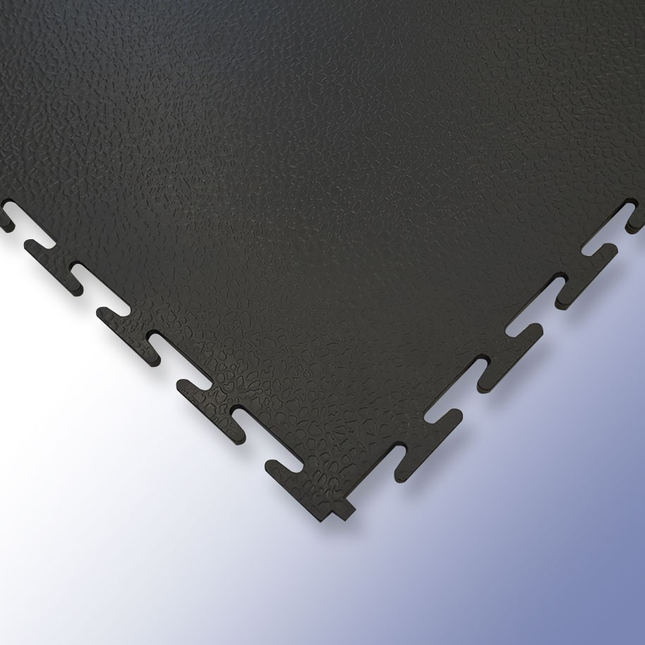 VIGOR Interlocking Morphic Tile Black 500mm x 500mm x 7mm