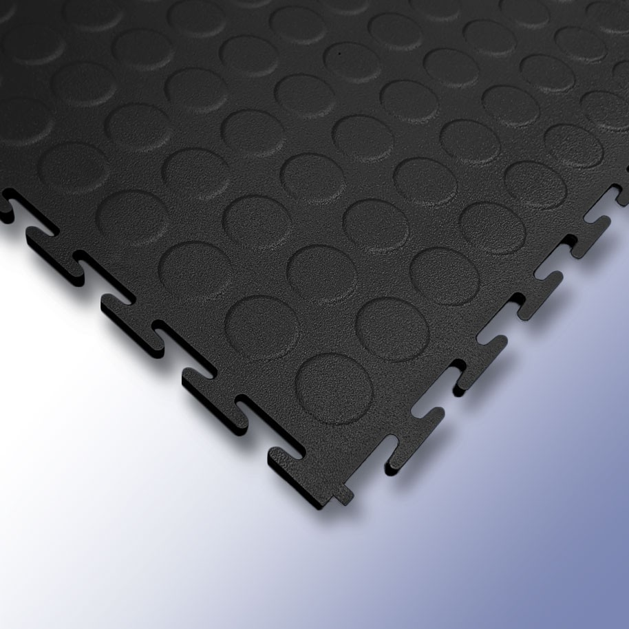 VIGOR Interlocking Studded Tile Black 500mm x 500mm x 7mm