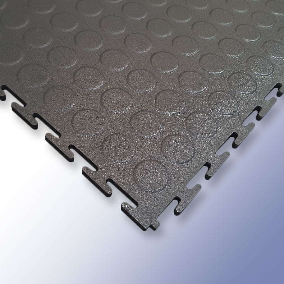 VIGOR Interlocking Studded Tile Dark Grey 500mm x 500mm x 7mm