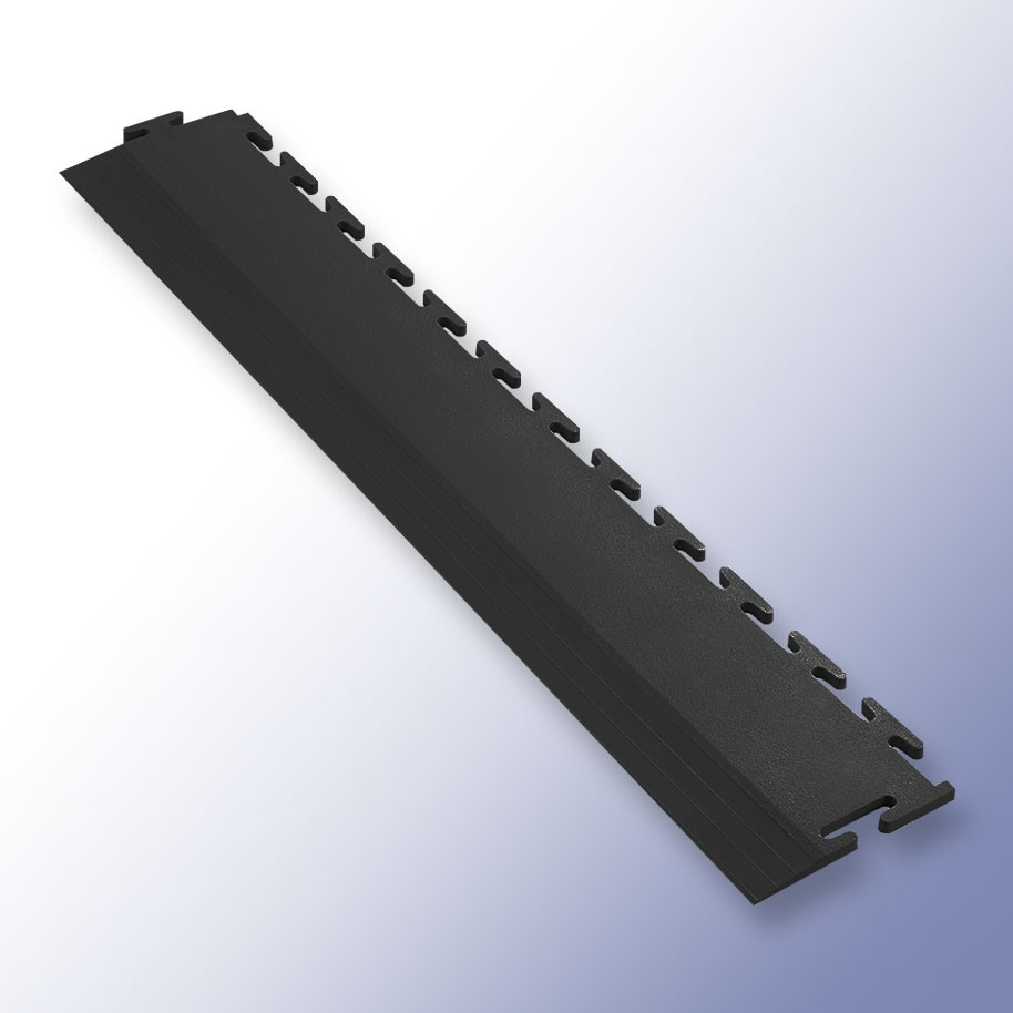 VIGOR Interlocking Tile Edge Black 500mm x 75mm x 7mm
