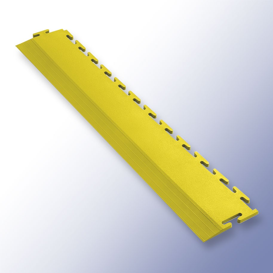 VIGOR Interlocking Tile Edge Yellow 500mm x 75mm x 7mm